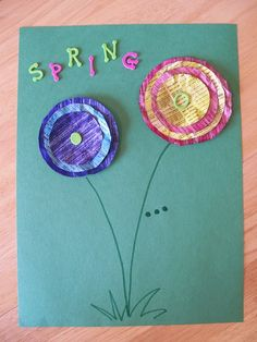kids crafts: spring has sprung... this can also be a lesson on stacking from biggest to smallest