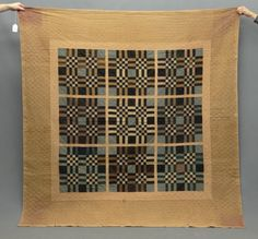 Amish Sixteen Patch quilt.q This looks very much like a pattern seen on Welsh blankets.