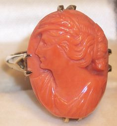 beautiful coral cameo ring!