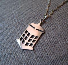 TARDIS necklace!!