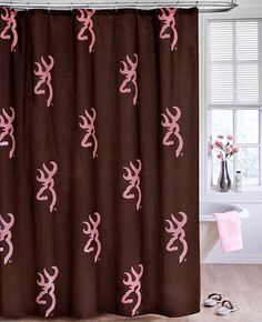 browning camo for the bathroom   Home » Bedding » Camouflage Bedding » Browning Pink Buckmark Shower ...