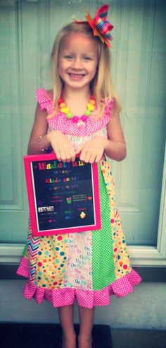 Back to school ruffle twirl dress on Etsy, $32.00