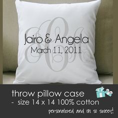 shower giftsidea, monogrammed gifts for bride, brides gift to groom, bridal shower gifts, throw pillows