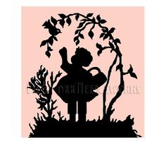 Cross Stitch Pattern, Counted Cross Stitch, Silhouette Pattern, Child Silhouette by NewYorkNeedleworks