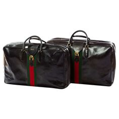 Rare 1970's Gucci Leather Luggage Set