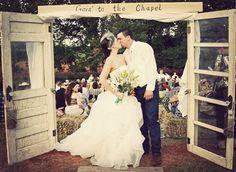 Fabulous Door Way Entrance:  Savvy Deets Bridal: {Real Weddings} Jordan & Justin's Country Backyard Wedding