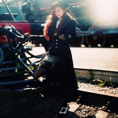 old trains, steampunk style, steam punk, steampunk inspir, steampunk girl