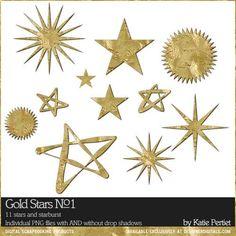 Gold Stars No. 01 by Katie Pertiet at Designer Digitals