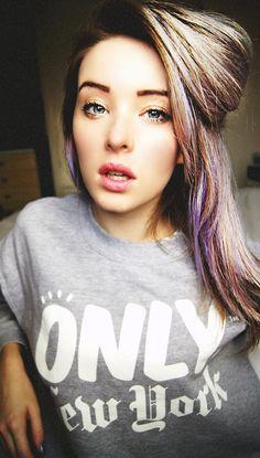 Love the suble purple streaks