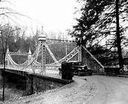 Suspension bridge in Mill Creek Park/1918