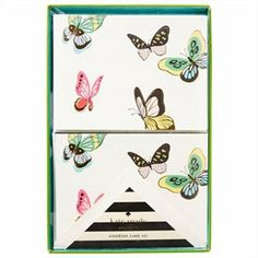 Butterflies Stationery Set by @kate spade new york spade #katespade #IndigoPaper #IndigoKateSpadeNY