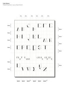 Flatland typeface via @CRGibson_design