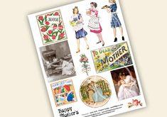 Digital Download Mothers Day Collage Sheet Vintage by sssstudio