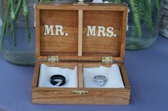 Ring box created by my father and I~ Wedding Rings Box