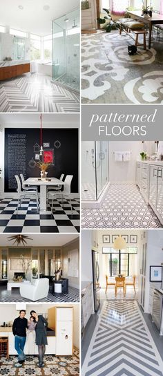 The Glitter Guide: Interior Style File: Patterned Floors!