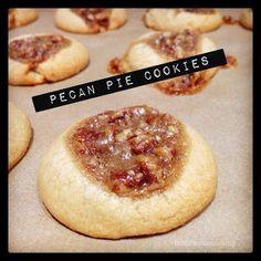 Molly Crocker Cooking: Pecan Pie Thumbprint Cookies