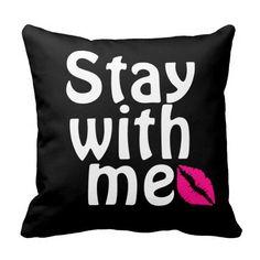 Flirty Words with Lipstick Throw Pillows