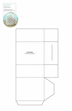 Double the Fun Cocoa Set box #free pattern/template #downloadable