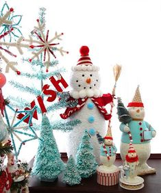 turquoise and red Christmas by allsorts