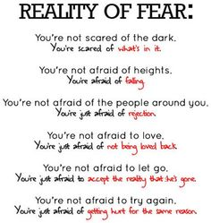 Rethink your fear