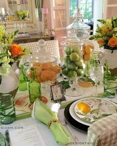 Father's Day tablescape from Designthusiasm.com #tablesetting #eventdecor #fathersday #tablescape #citrus