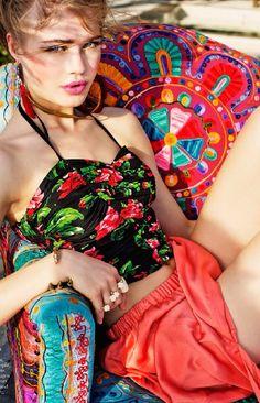 color mix, colour print, summer colors