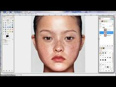 GIMP Tutorial - naturalistic skin and eye retouching - YouTube