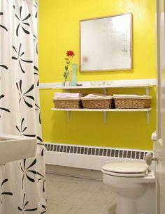 Storage en el baño - #Canastas de #mimbre