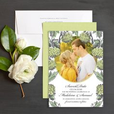 Hydrangea Love Save The Date Cards By Jennie | Elli