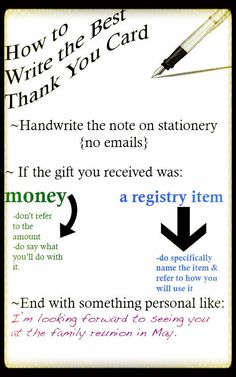 Thank you note tips
