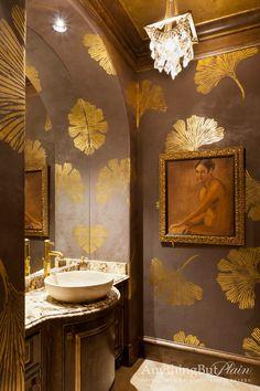 Gold Gingko Powder Bath