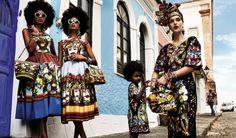 Giampaolo Sgura and Anna Dello Russo revisit the iconic Carmen Miranda on Vogue Brazil in folk Spring Summer 2013 Dolce.