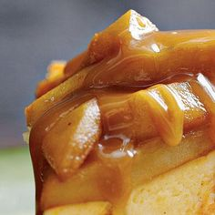 Caramel Apple Topping | Serve warm over cakes, ice cream, or brownies for a decadent dessert. | SouthernLiving.com