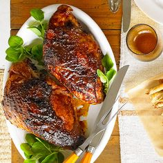 Bone-in turkey breast halves make single-size servings for Christmas guests with our delicious Barbecue Spice-Rubbed Turkey Breast: http://www.bhg.com/christmas/recipes/christmas-dinner-menus/?socsrc=bhgpin103114barbecuespicerubbedturkeybreast&page=7