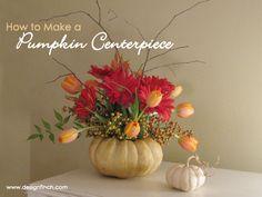 How to Make a Pumpkin Centerpiece | www.designfinch.com