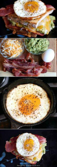 Guacamole Grilled Cheese Breakfast Sandwich Recipe breakfast sandwich recipes, breakfast sandwiches