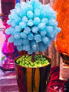 Rock Candy centerpiece