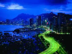 Hong Kong?: Beautiful Pictures of Cities at Night (55 pics)