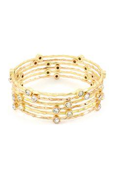 Golden Crystal Isis Bracelet.