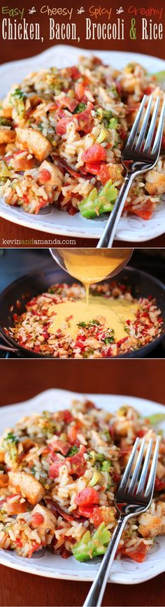 Cheesy Chicken Bacon Broccoli & Rice
