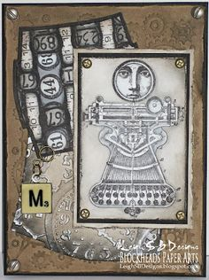"Leigh S-B Designs: ""Measure"" Steampunk card featuring Lost Coast Designs - A Blockheads DT project!"