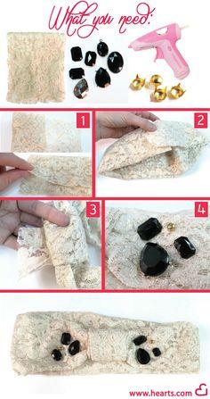 Lace Headband DIY steps