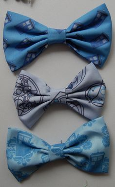 doctor who theme hair bows :) $6.00, via Etsy.