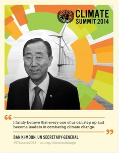 Everyone has a role in combating #climate change. #Climate2014 #ClimateAction