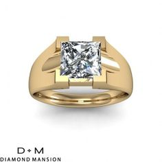 Chunky rings are in... look at this unique engagement ring from DiamondMansion.com #engagement #engagementrings #jewelry #uniqueengagementrings #weddings $924