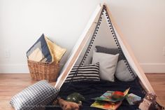 How to Make an Easy No-Sew Kids' Tent in Under 1 Hour