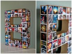 DIY Photo Collage Initial