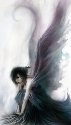 bird, fairies, fantasi, the darkness, folk, fallen angels, dark angels, dark fantasy, angel art