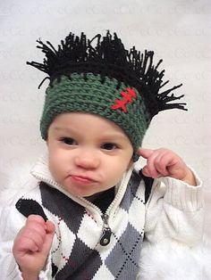 Crochet Headband, monster