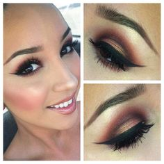 I apologize for the bad lighting! On my eyes- Coppering in the crease, Sketch on inner and outer corners and Expensive Pink wet on my lid with Naked Pigment as a highlight all over my face #ilovemaciggirls - @audreyxotutorials- #webstagram